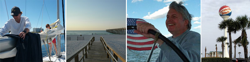 Images of Pensacola Beach and ECY Students in class